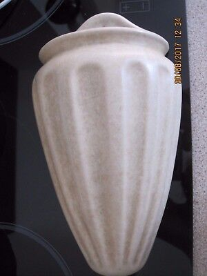 BEIGE 24 CM LONG Wall Pocket Hanging Wall Vase, Clews Chameleon Ware C1930s