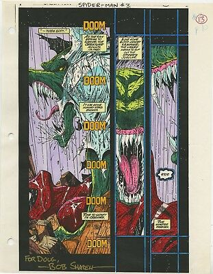 Spider-Man 3 COMIC ART Todd McFarlane Color Guide Page #13 Lizard Signed Sharen
