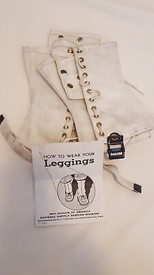 Vintage Official Boy Scout Leggings/Spats with Paperwork