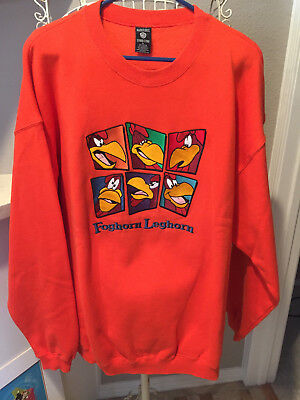 Warner Bros. Studio Store Foghorn Leghorn  X-Large Men's Embroidered Sweatshirt