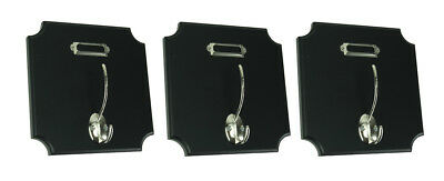Classic Black and Silver Sqaure Wall Hook Set of 3
