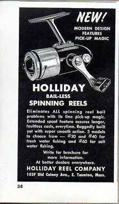 1965 Print Ad Holliday Fishing Spinning Reels E. Taunton,MA