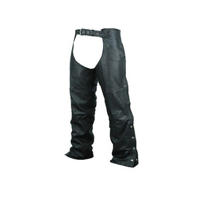 Unisex Mens Womens Leather Biker Motorcycle Chaps Plain Model New All Sizes