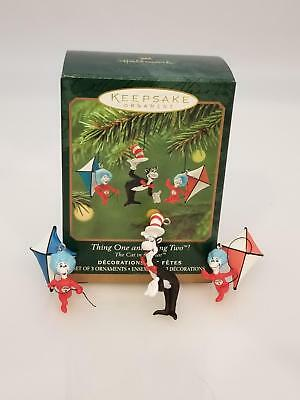 Hallmark Miniature Ornaments 2001 Thing One and Thing Two - Dr. Seuss - #QXM5315