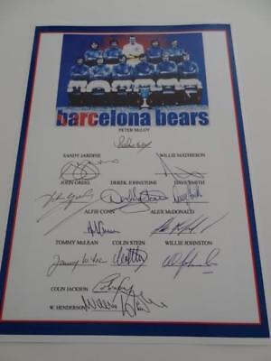 RANGERS FC 1972 EUROPEAN CUP WINNERS CUP FINAL SIGNED REPRINT x 13 OF THE TEAM