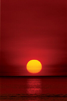 RIESEN Poster Planet Earth - RED SUNSET (Sonnenuntergang) ca100x140 NEU XL785