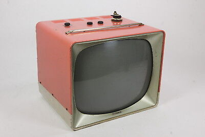 Vintage Sylvania Television Set Pink TV For Display Or Repair Nonworking
