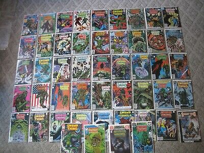 DC Saga of the Swamp Thing #1-67 Key Issues Constantine Moore VF Lot of 47 VT3A