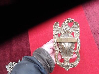Antique Large Heavy Brass Eagle Door Knocker/american/french Eagle.