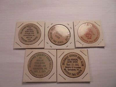 5--Vintage Wooden  TWO CENTS  .##DR2