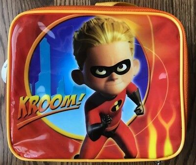 BRAND NEW! Disney Incredibles Dash Lunch Tote with Water Bottle