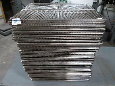 Lot of 58 Chrome Lab Fridge Shelves 29x24