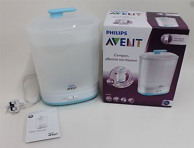 BNIB PHILIPS SCF922/01 Avent Natural 2-In-1 Compact Electric Steam Steriliser