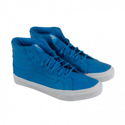 f4c5efb3a1 New Vans Womens Sk8-Hi Slim Casual Lace Up Sneakers Shoes Size 7 Neon Blue