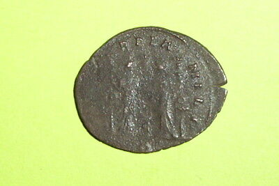 AURELIAN 270 Ancient ROMAN COIN two Concordia military standards rare old money
