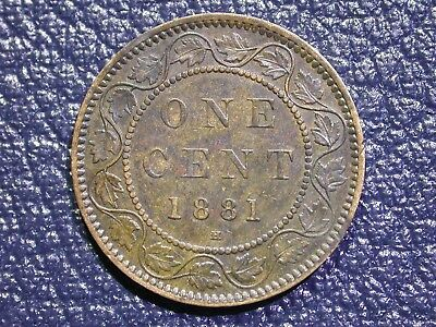 Canadian Large Cent - 1881 H