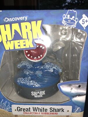 Shark Week Great White Shark Bobblehead 30th Anniversary