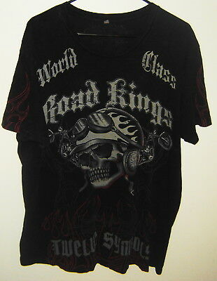 Road Kings Motorcycle Skull Twelve Symbols Custom Bikes Est 1953 T-Shirt Sz Xxxl