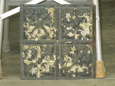 Old Antique Metal Tin Ceiling Tile Tiles 12x12