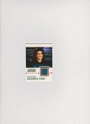 Star Trek Tng Quotable  Costume Card C4 Blue Variant Counselor Deanna Troi