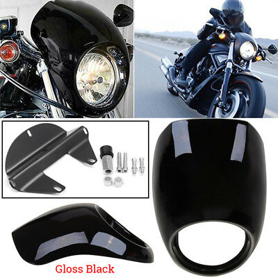 Front Headlight Fairing Mask Cowl for Harley Sportster Dyna FX XL 883 1973-UP