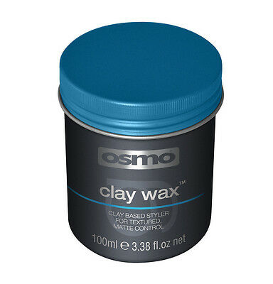 Osmo Hair CLAY WAX Texured Matt Control FIRM HOLD 100ml (Blue Lid)