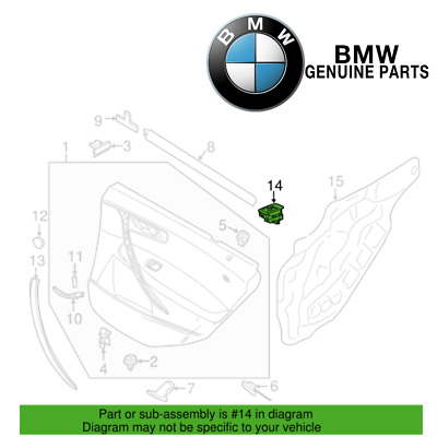 Front Passenger Right Black Door Window Switch Genuine New For BMW E60 5-Series