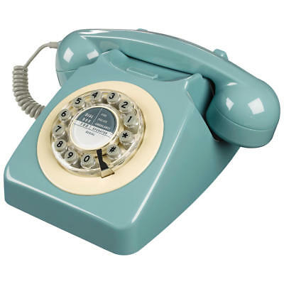 Wild & Wolf 746 1960s Corded Telephone French Blue (448280)
