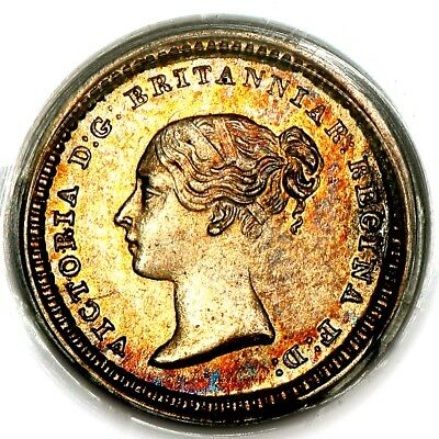 1838 Queen Victoria Great Britain Silver 3 Three Halfpence 1 1/2D Coin PCGS MS63