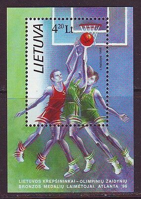 Lithuania 1996. Basketball team. SS. MNH.