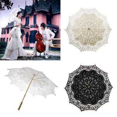 """Handcraft Lace Embroidered Parasol Umbrella Wedding Dancing Party Photo Show 38"""""""
