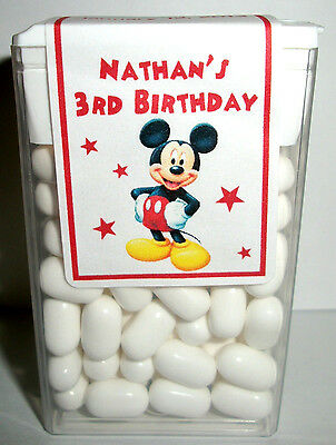 14 Mickey Mouse Clubhouse Birthday Party Favors Tic Tac Labels ~ Personalized