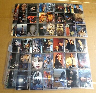Multi-List Of Sleeve Of 9 X-Files Season 2/3 Parallel Foil Stamped Trading Cards