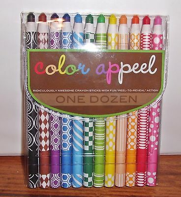 Color Appeal Kids School Coloring Crayons One Dozen Crayon Sticks F