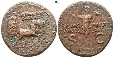 Savoca Coins Germanicus Caesar Caligula As Quadriga 13,68 g / 28 mm @ANC16267