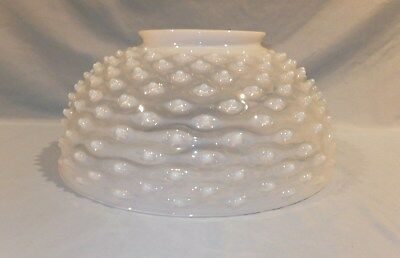 "14"" Victorian White Hobnail Hanging oil lamp shade"