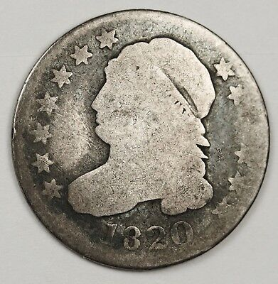 1820 Bust Dime.  Circulated.  128652
