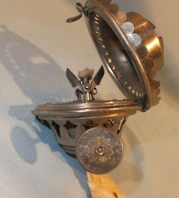 scarce 1880's W & S wallace and Sons The Sun Clamshell Oil Lamp Burner