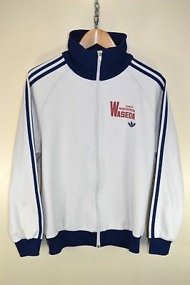 vtg 70s ADIDAS OLDSCHOOL CASUAL RETRO TRACK JACKET TRACKSUIT TOP SIZE D5 SMALL