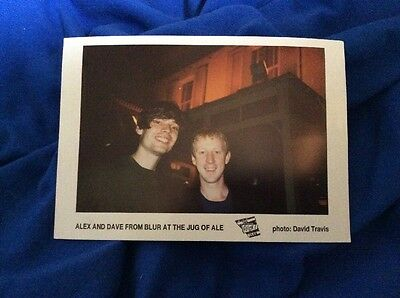 Blur - Alex And Dave At The Jug Of Ale, Moseley. Postcard. Rare, Unused.