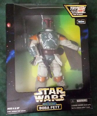 """Star Wars POTF ELECTRONIC 12"""" BOBA FETT Action Collection Kenner 1998 NEW MISB"""
