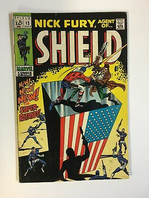 NICK FURY AGENT OF SHIELD 13 VG+ July 1969