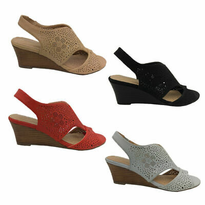 Ladies Shoes Step On Air Nikki Wedge Dressy Slingback 4 colours Size 6-11 New