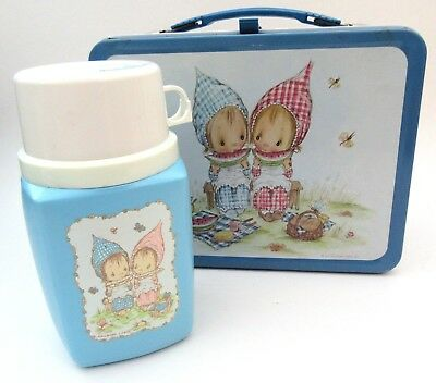 Vintage Betsey Clark Metal Lunch Box Thermos Hallmark 1975 Excellent Condition