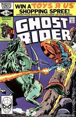 Ghost Rider (1st Series) #49 1980 VG+ 4.5 Stock Image Low Grade