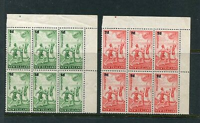 1939 Health Set Unmounted Cnr Blocks  6 With Pips