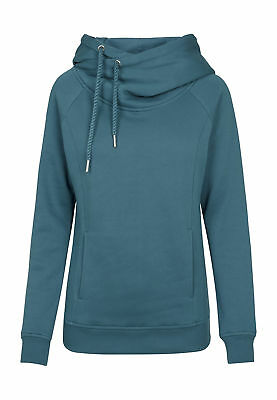 Urban Classics Ladies Raglan High Neck Hoody TB1076 Teal