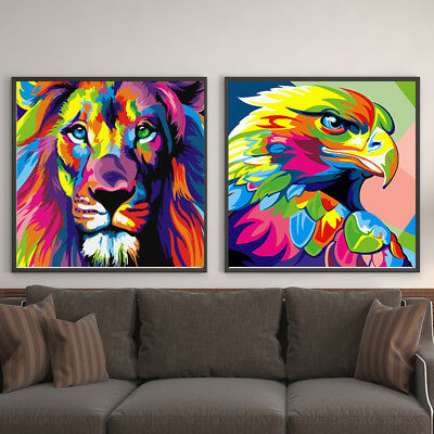 DIY Animal Oil Painting Paint By Number Home Wall Art Linen Canvas 40*50cm Room