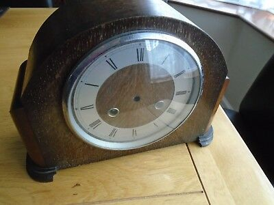 Vintage wooden clock case Made in England