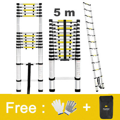 16.4 Ft/331 Lbs Aluminum Multi Purpose Ladder Extension Folding Telescopic 5M BY